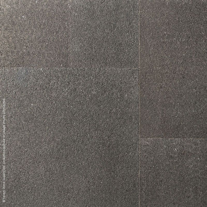 Colour swatch of Imported Black Granite square cut flagstone pavers
