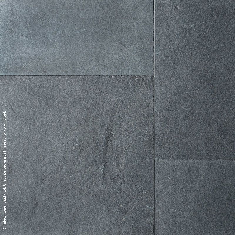 Colour swatch of Imported Black square cut flagstone pavers