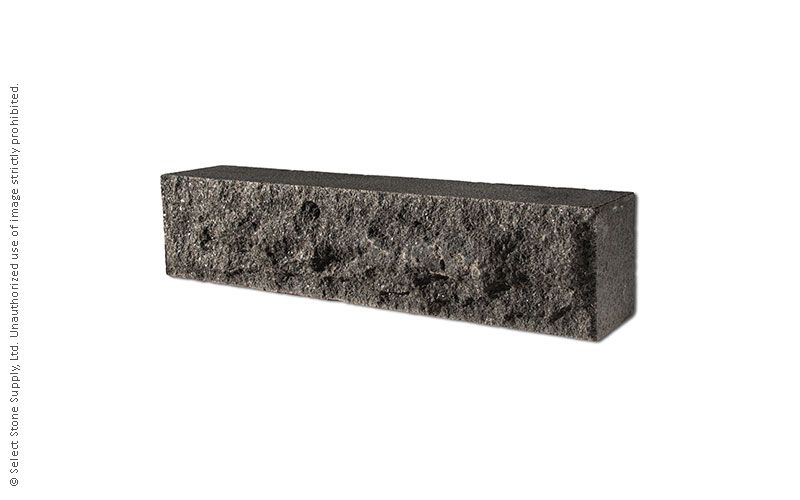 An Imported Black Granite natural stone step riser